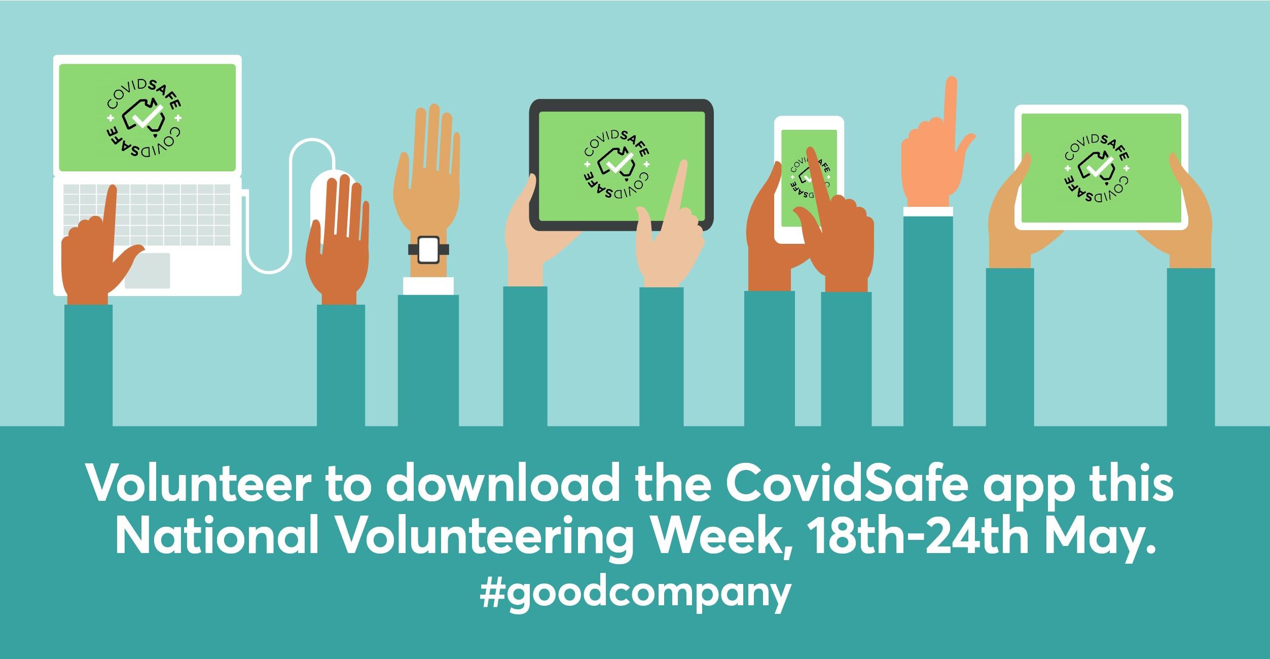 Volunteer to download the COVIDSafe App this National Volunteering Week